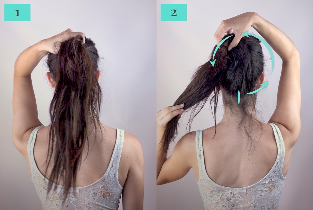 Tutorial cola de caballo con palo para el cabello