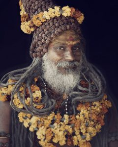 shadu rudraksha and flower